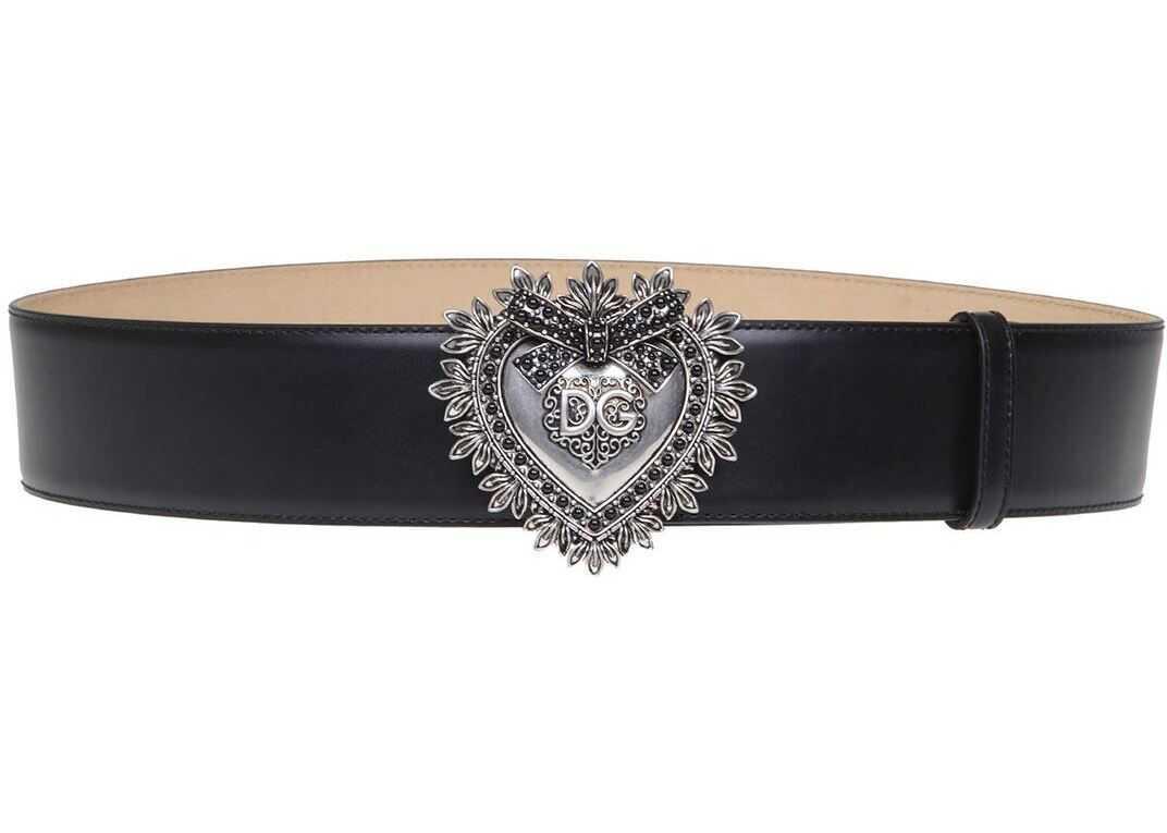 Dolce & Gabbana Devotion High Belt In Black Black