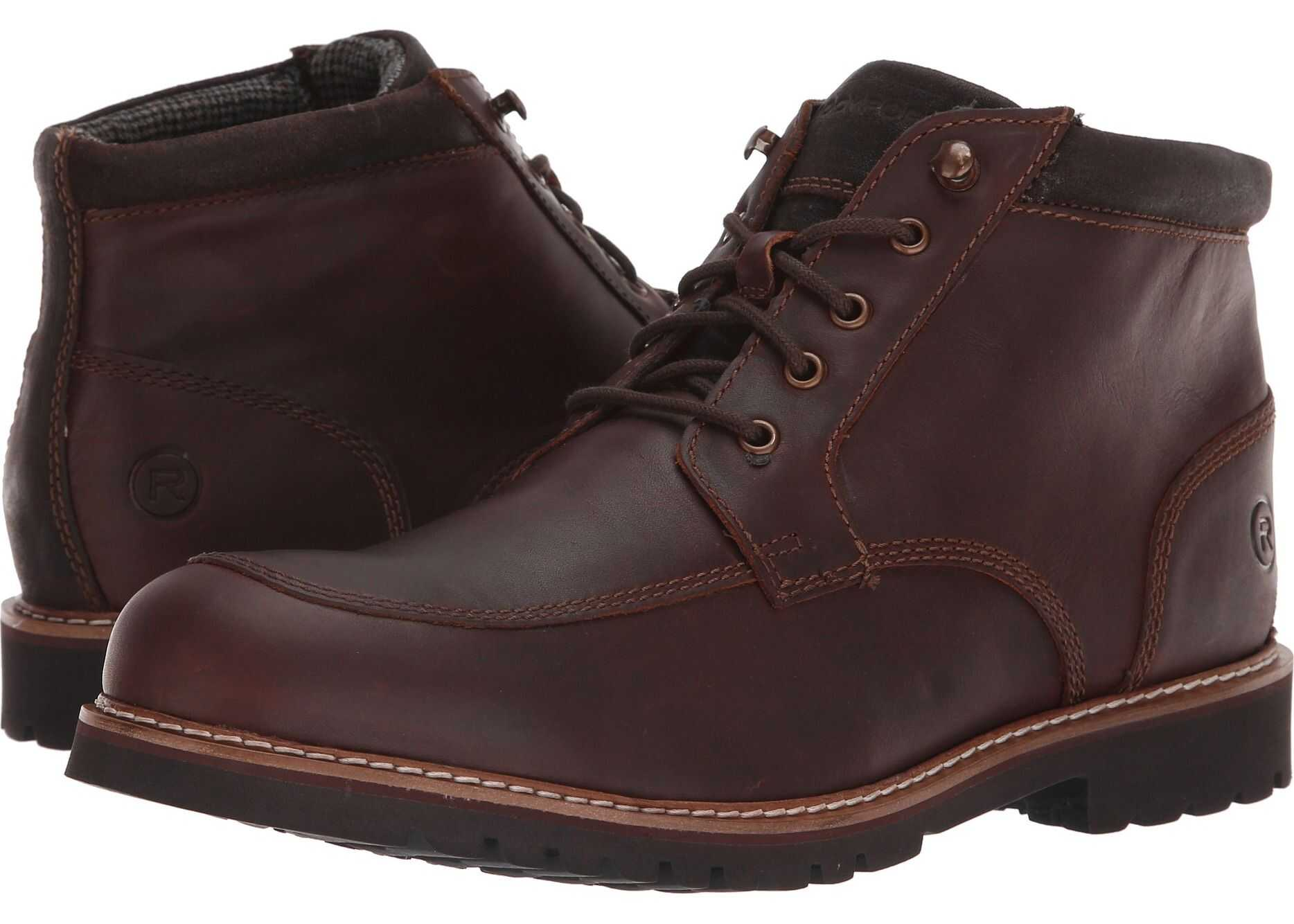 Rockport Marshall Rugged Moc Toe Saddle Brown