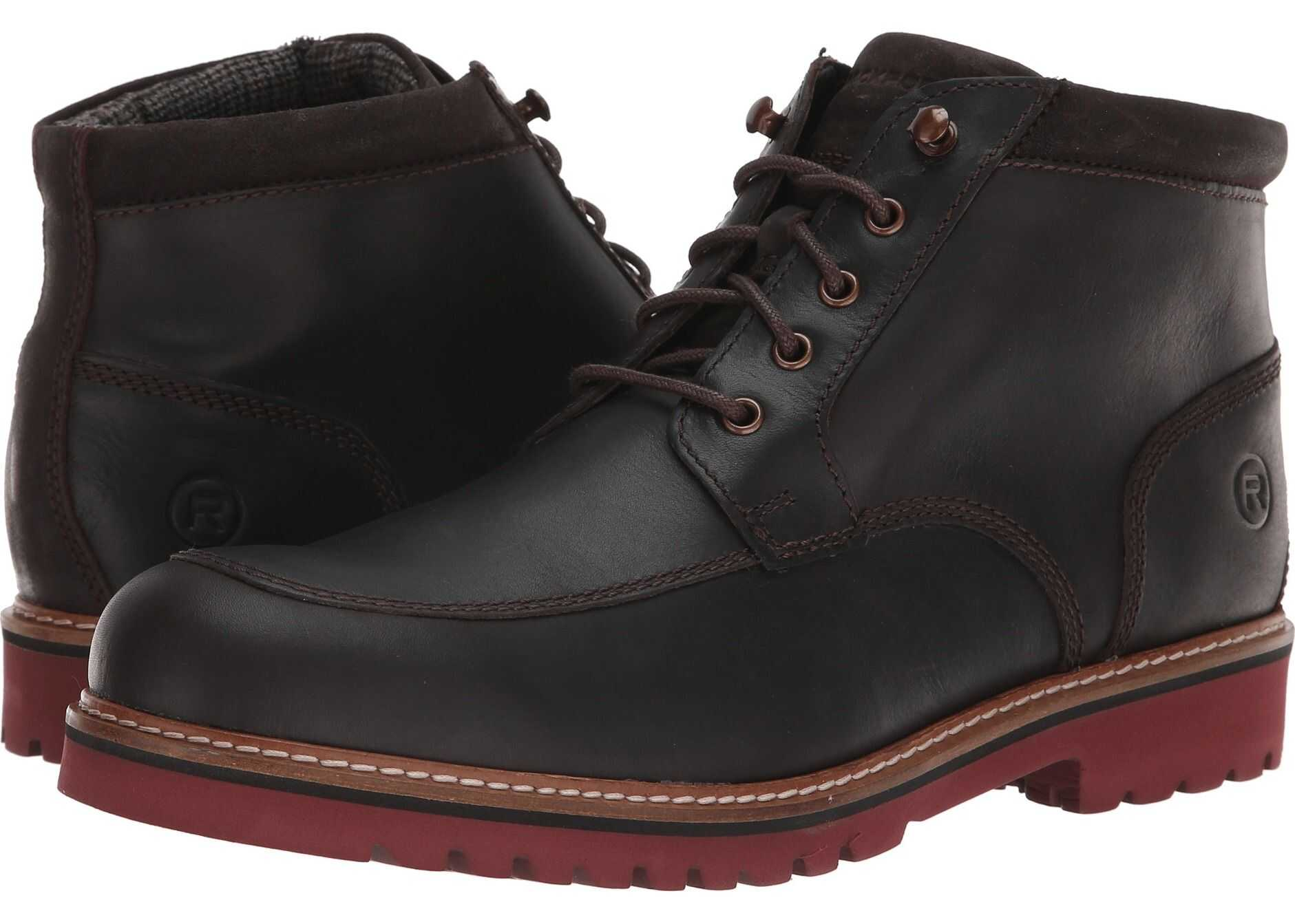 Rockport Marshall Rugged Moc Toe Dark Bitter Chocolate