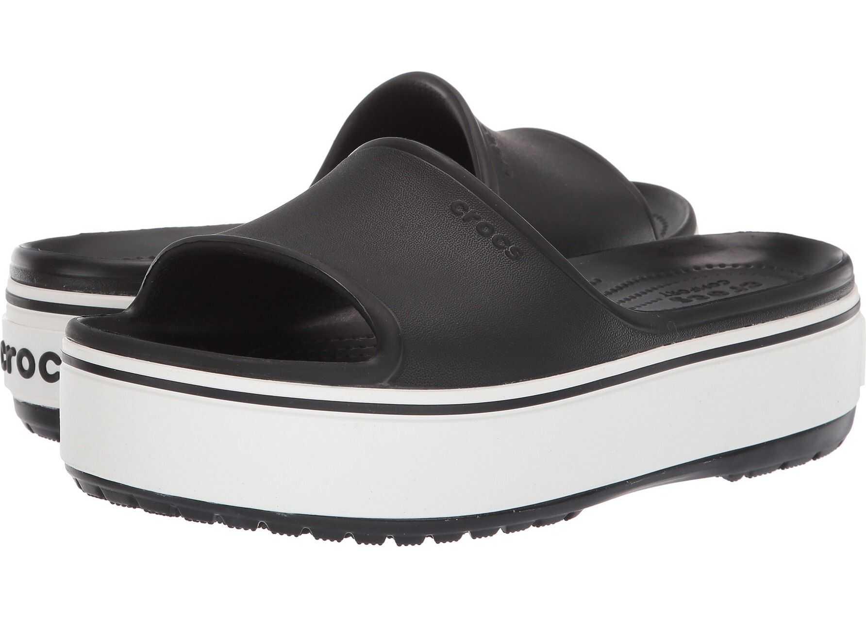 Crocs Crocband Platform Slide Black/White