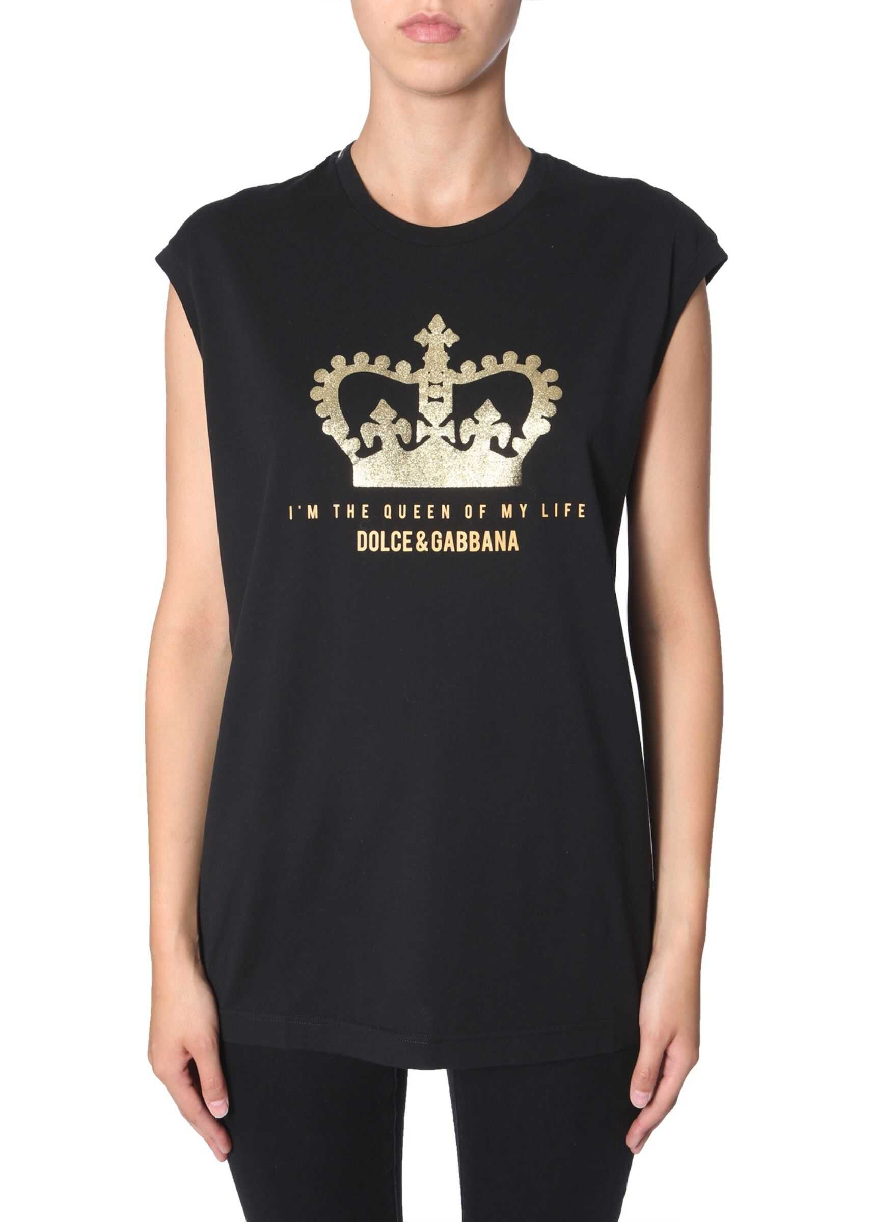 Dolce & Gabbana T-Shirt Without Sleeves BLACK
