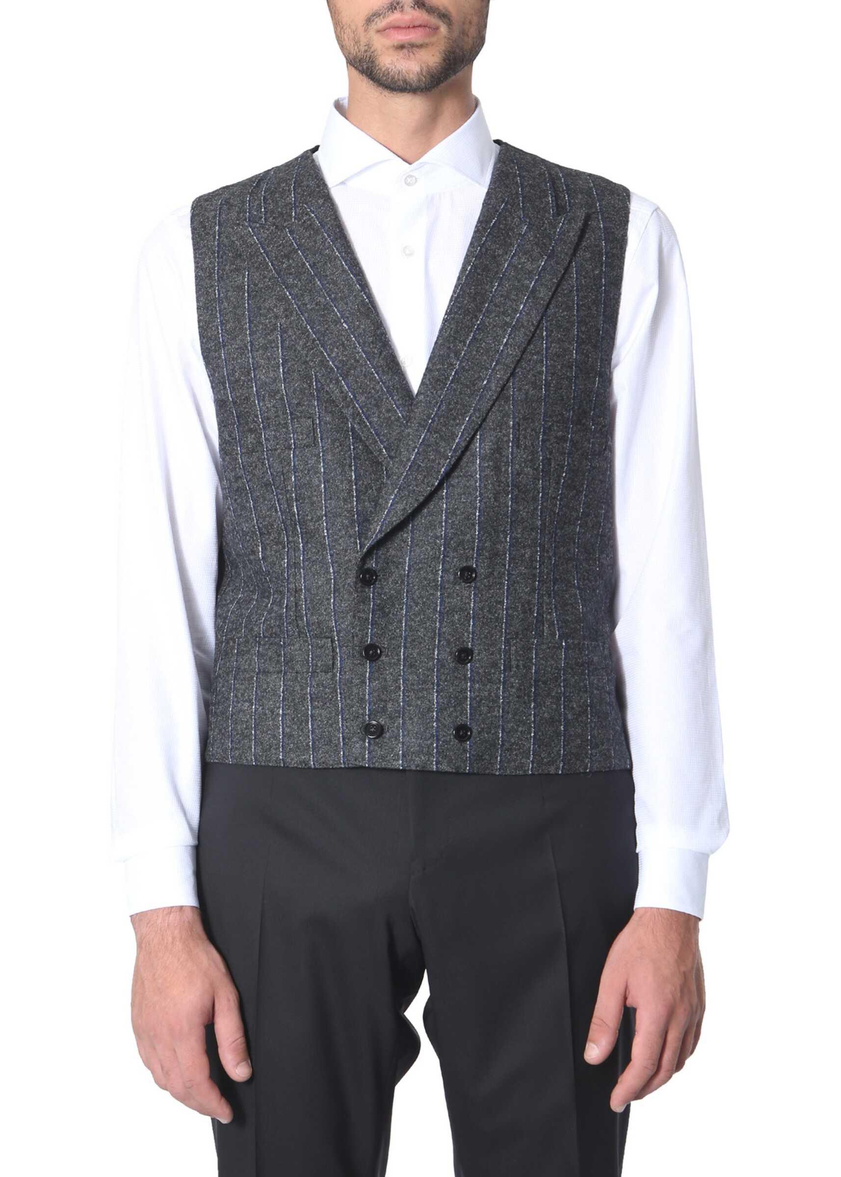 Dolce & Gabbana Double-Chest Vest GREY imagine