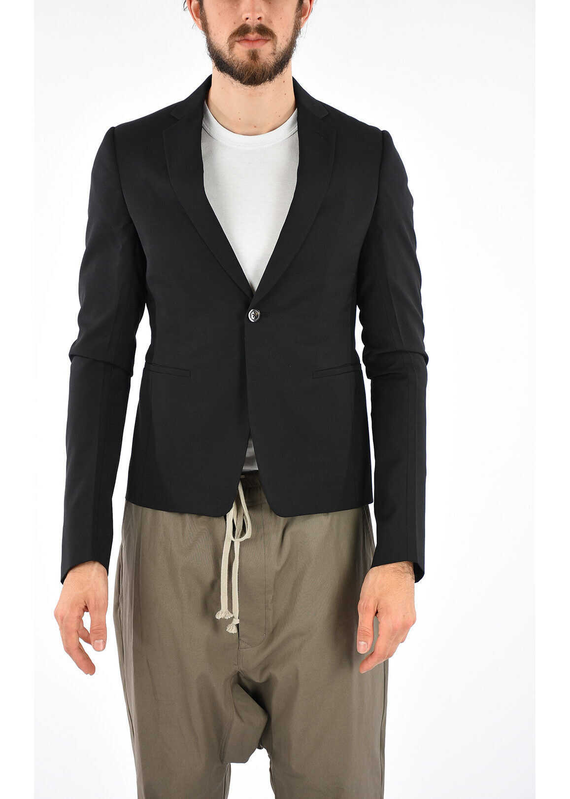 Rick Owens Virgin Wool CROPPED Blazer N/A