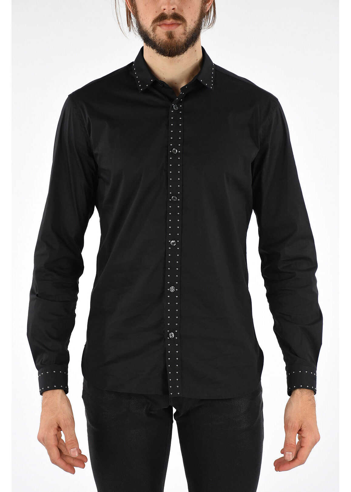 Just Cavalli Studded Shirt BLACK