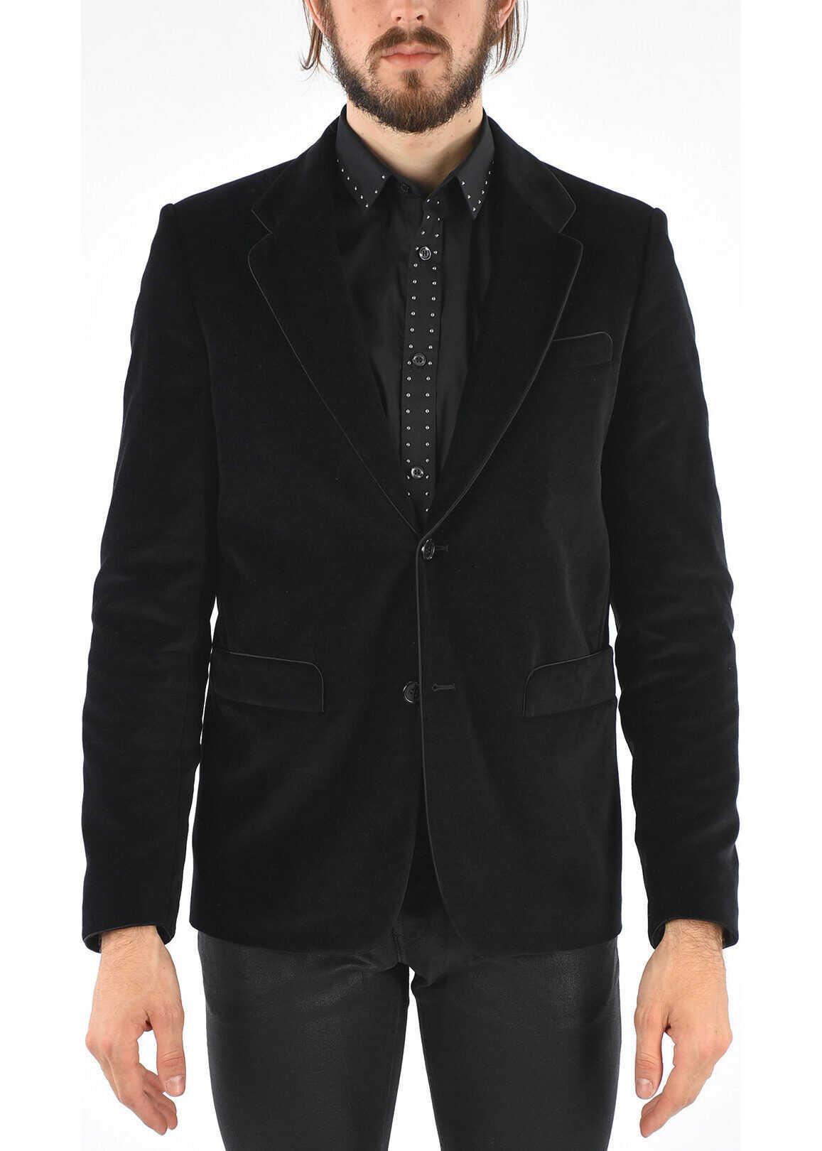 Just Cavalli Velvet Blazer BLACK