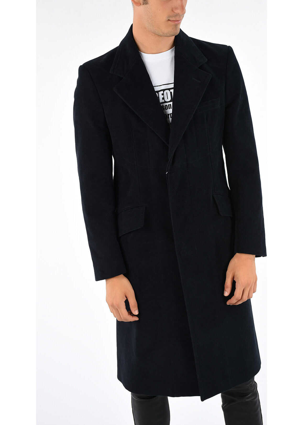 Maison Margiela MM14 Cotton Single Breast Coat BLUE