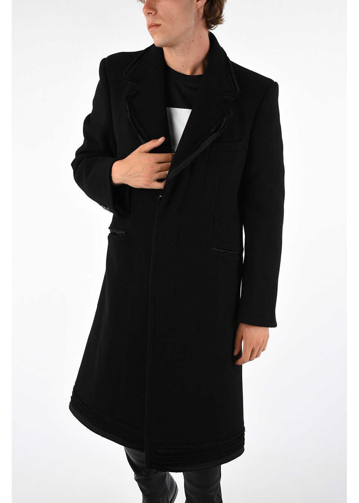Maison Margiela MM10 Wool Virgin Coat BLACK