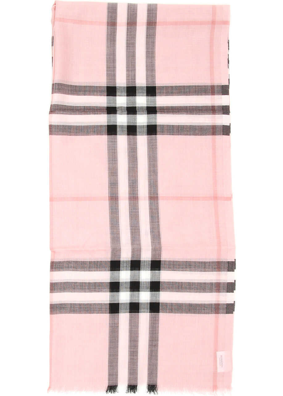 Burberry Giant Gauze Scarf ASH ROSE