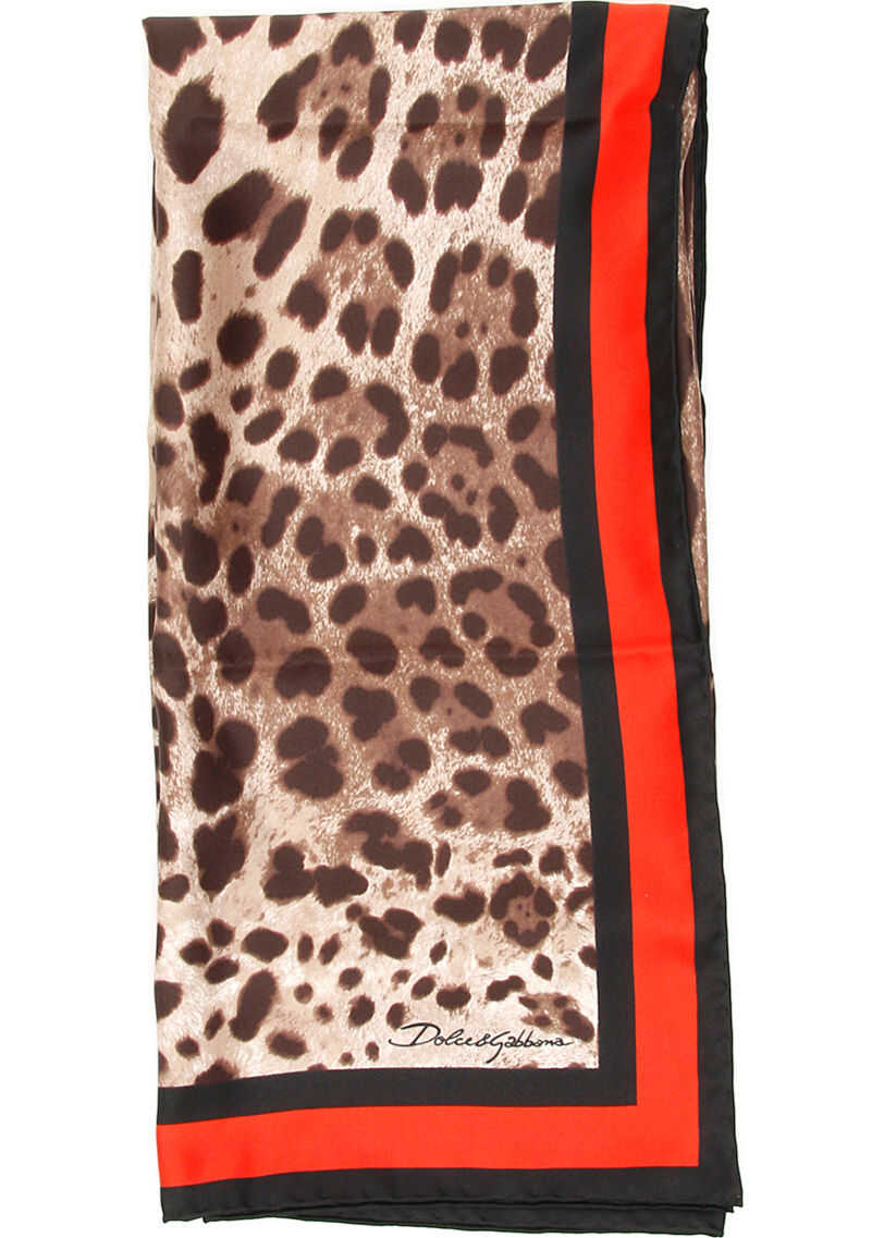 Dolce & Gabbana Animalier Scarf LEO NEW