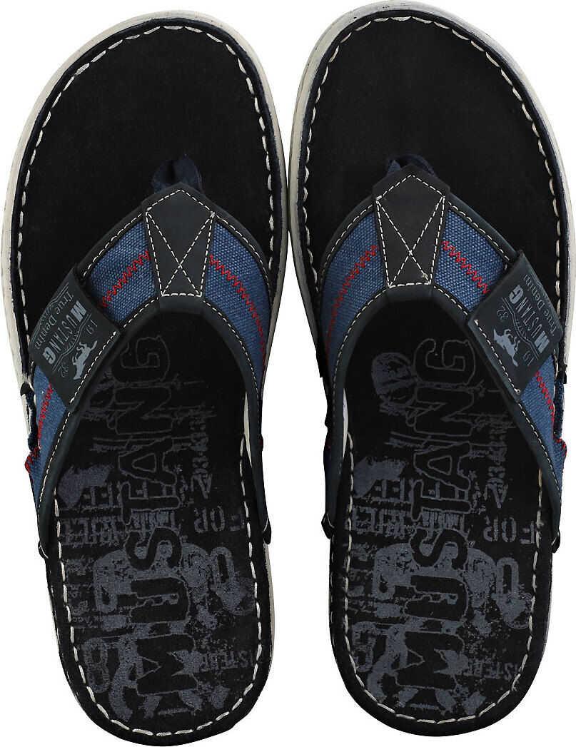 Mustang Single Strap Walking Sandals In Navy Blue