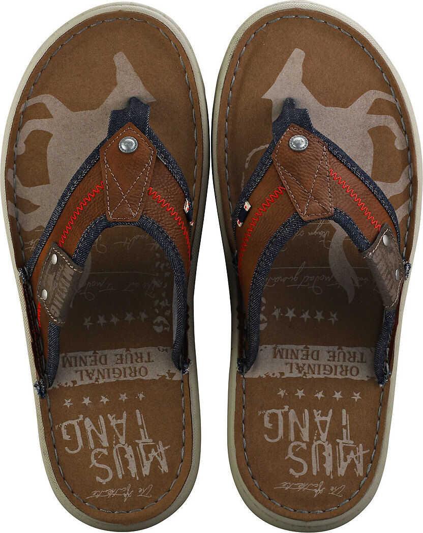 Mustang Single Strap Walking Sandals In Cognac Brown