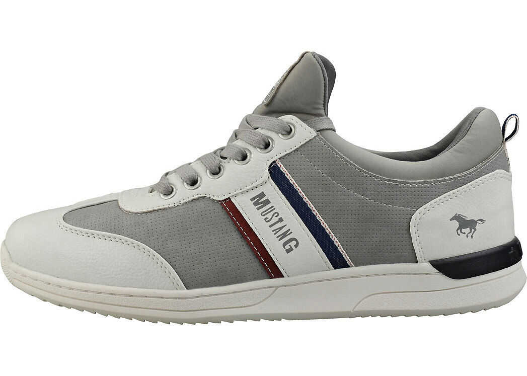 Mustang Lace-Up Low Top Casual Trainers In Grey Grey