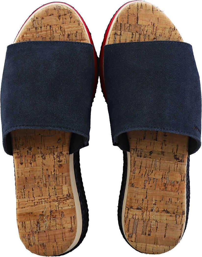 GANT Sant Ana Platform Sandals In Marine Blue