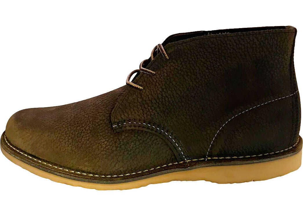 Red Wing Weekender Chukka Boots In Olive Brown Olive