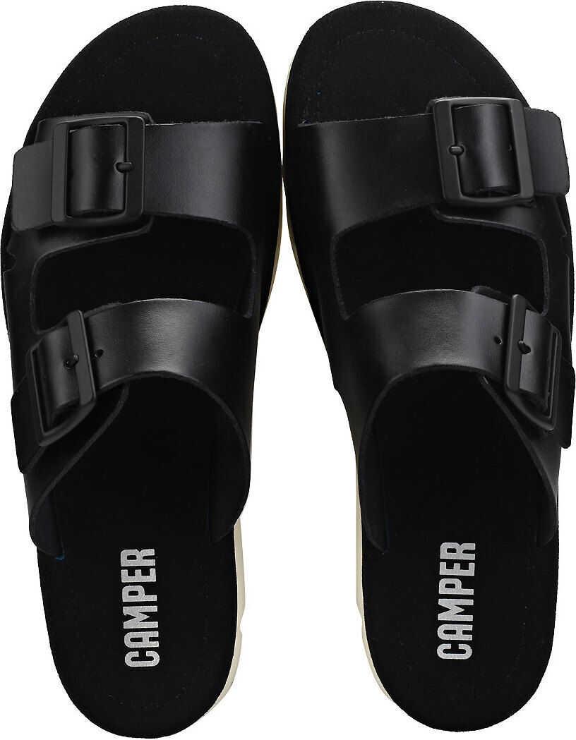 Camper Oruga Walking Sandals In Black Black