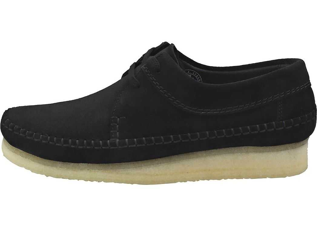 Clarks Weaver Casual Shoes In Black Black
