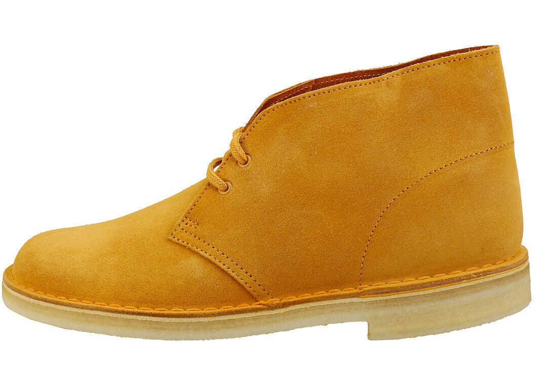 Clarks Desert Boot Desert Boots In Tumeric Yellow