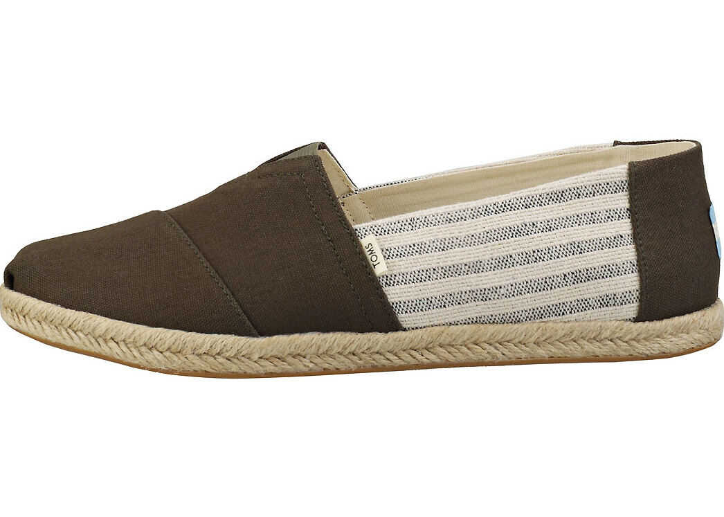 TOMS Tarmac Ivy League Rope Slipon Shoes In Olive Olive