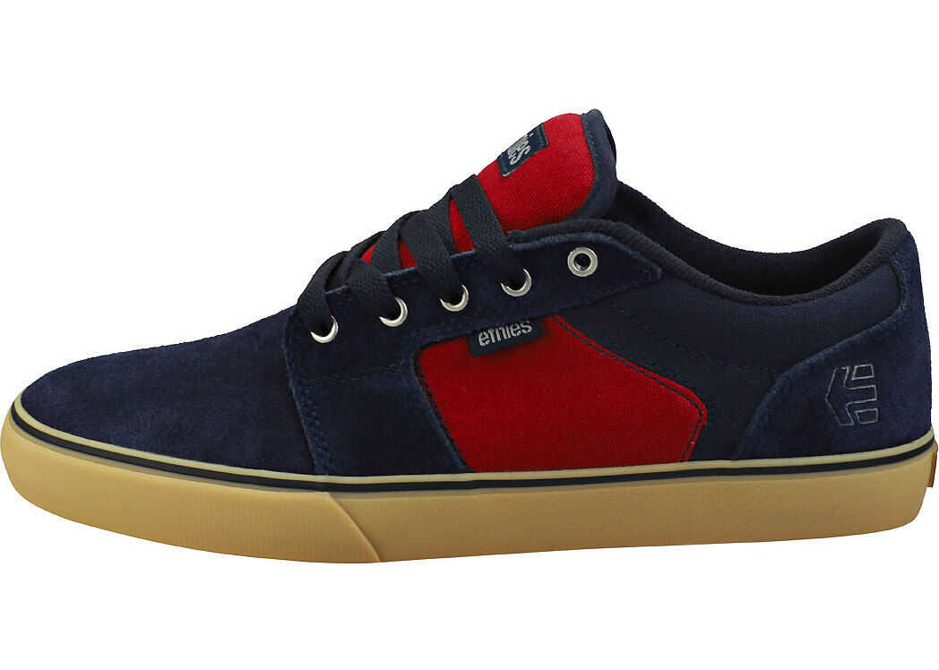 etnies Barge Ls Skate Trainers In Navy Red Gum Blue