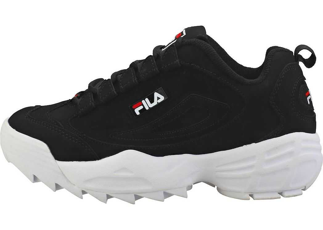 Fila Disruptor 3 Platform Trainers In Black White Black