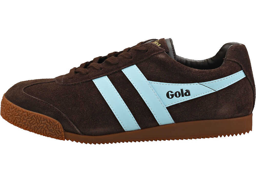Gola Harrier Unisex Classic Trainers In Dark Brown Brown