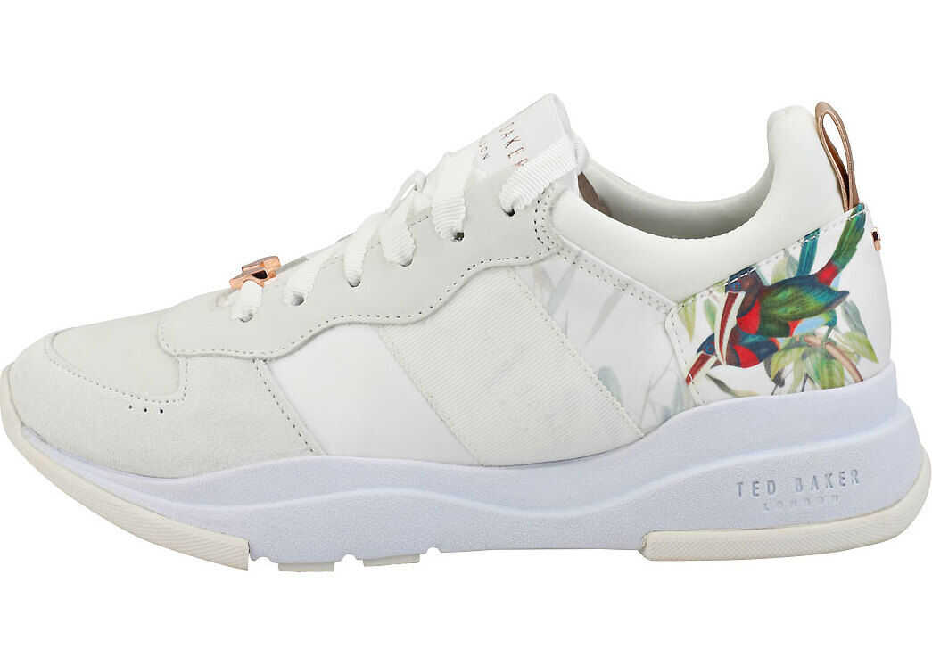 Ted Baker Waverdi Fashion Trainers In Off White Grey White