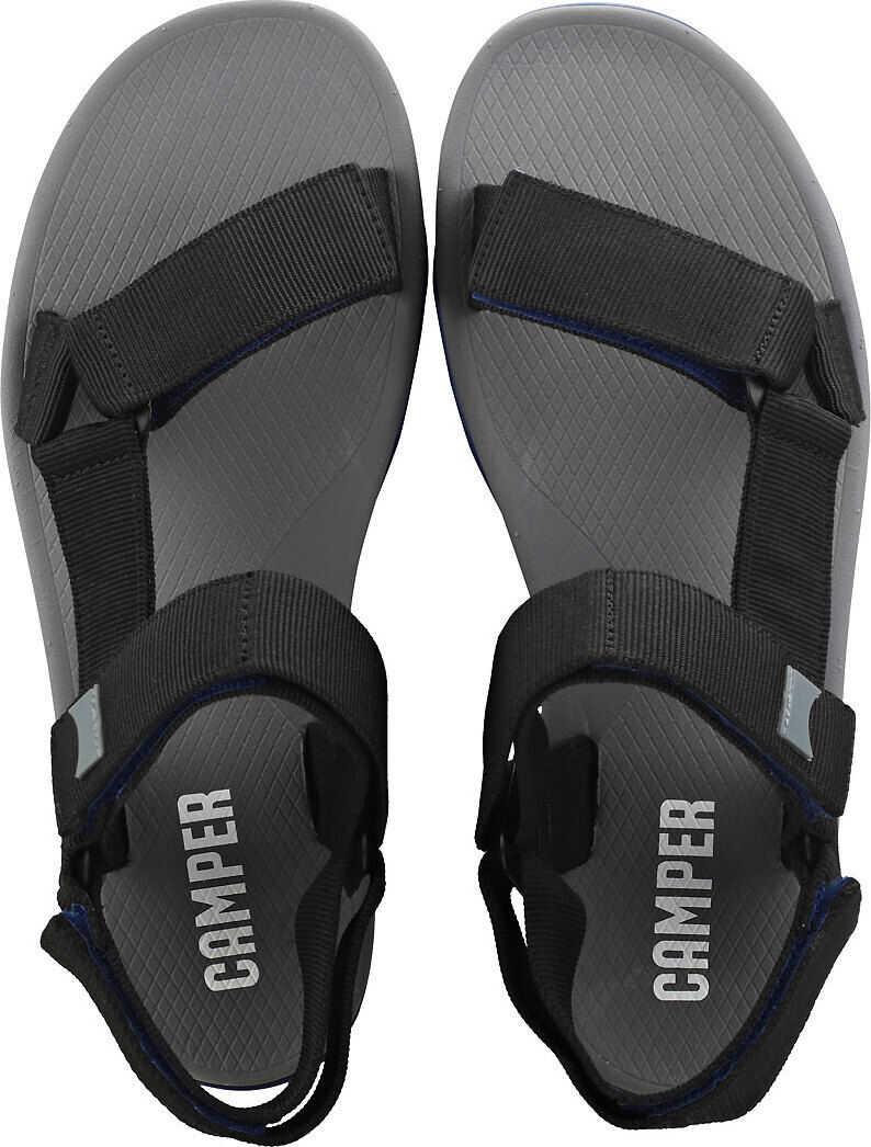 Camper Match Walking Sandals In Black Grey Black