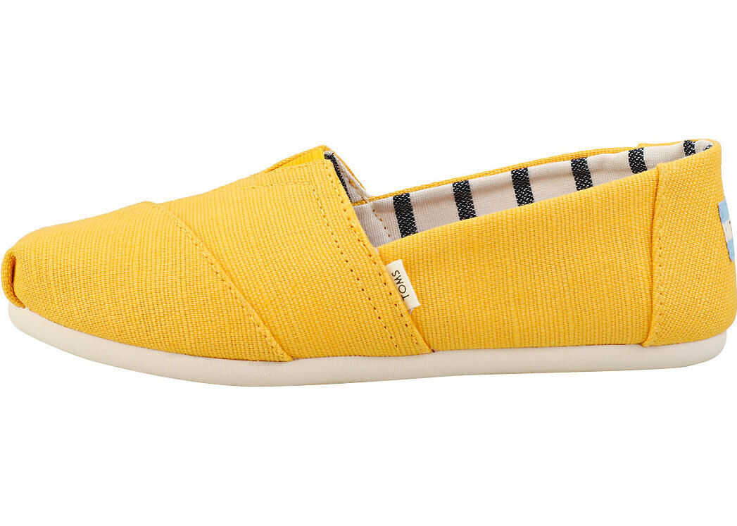 TOMS Classic Slip On Shoes In Gold Gold