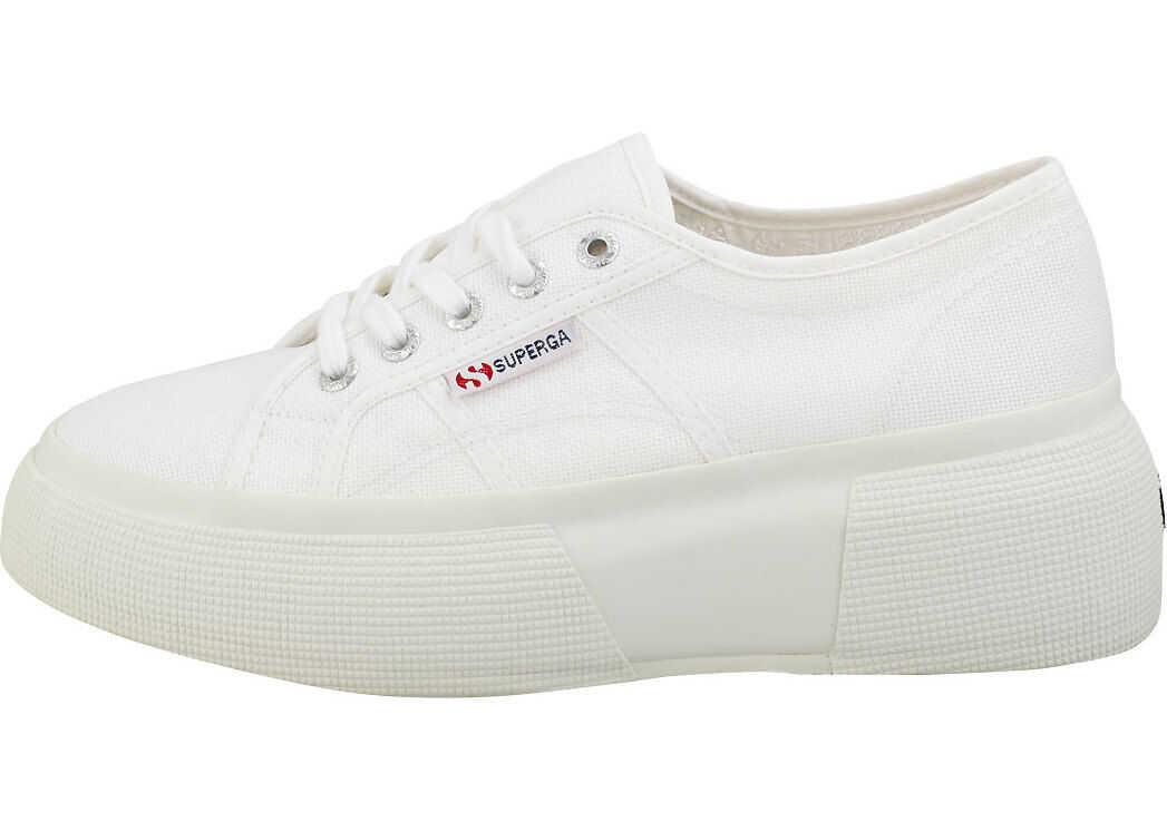 Superga 2287 Platform Trainers In White White