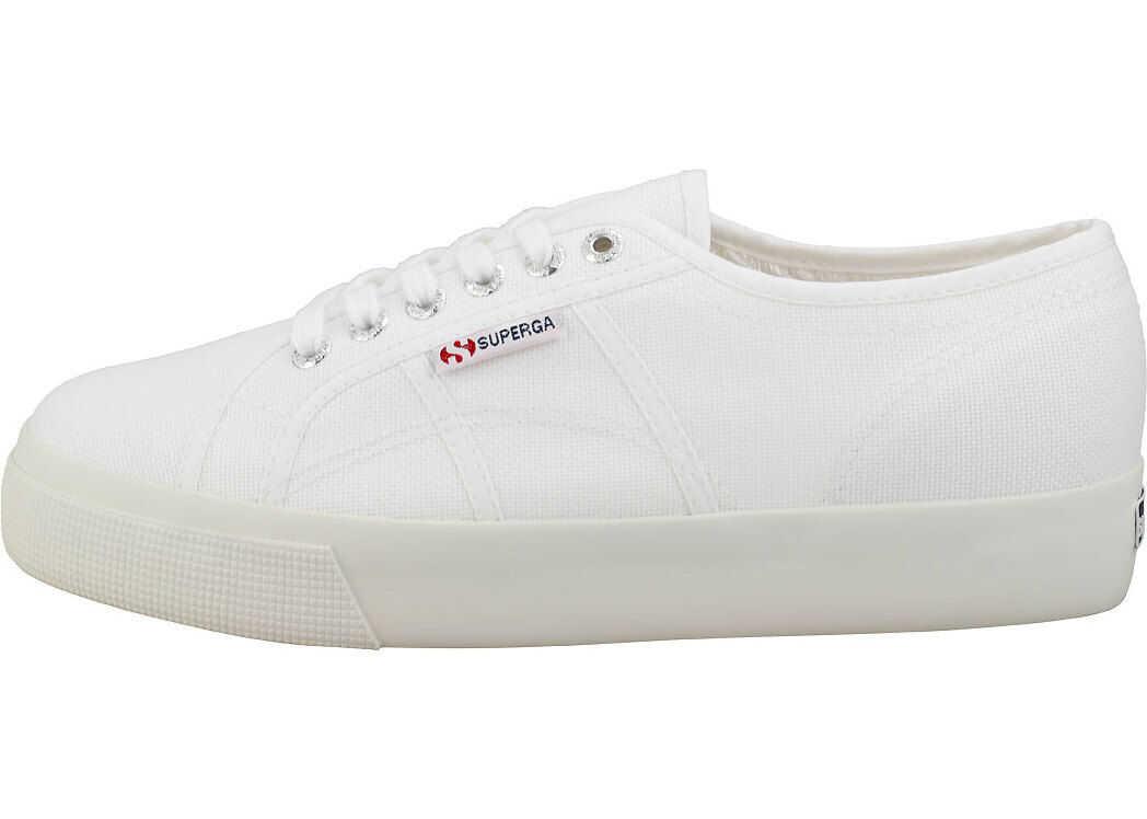 Superga 2730 Platform Trainers In White White