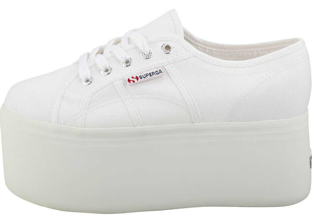 Superga 2802 Flatform Trainers In White White