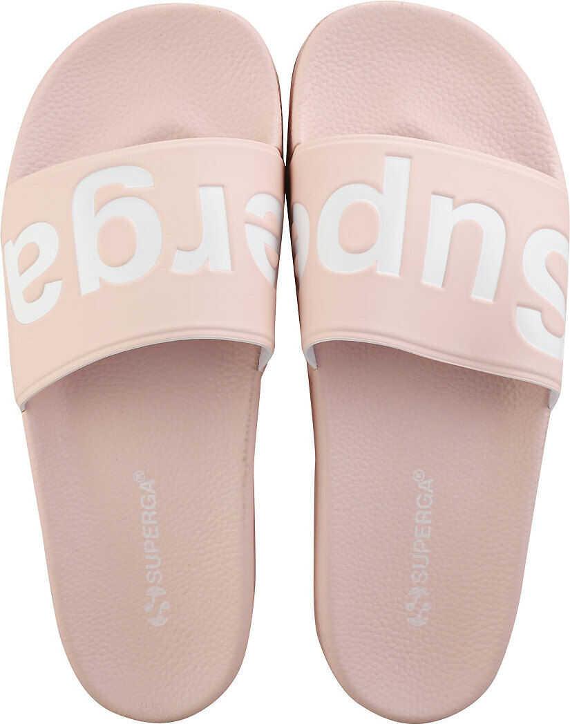 Superga 1908 Slide Sandals In Pink White Pink