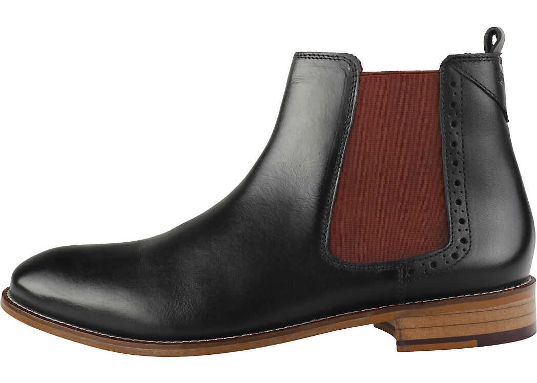 London Brogues Gatsby Chelsea Boots In Black Black