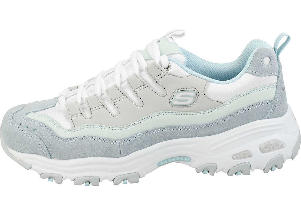 SKECHERS Dlites Sure Thing Fashion Trainers In Light Blue Grey Blue