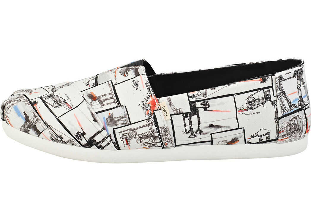 TOMS Star Wars X At Print Espadrille Shoes In White White