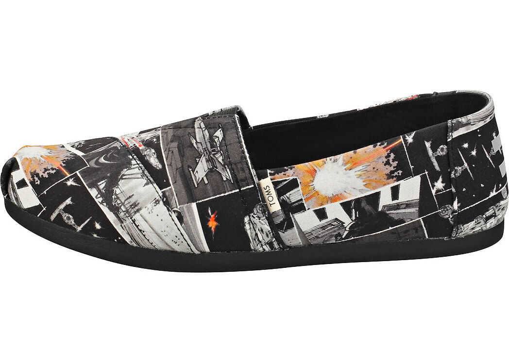 TOMS Star Wars X Darth Print Espadrille Shoes In Black Black