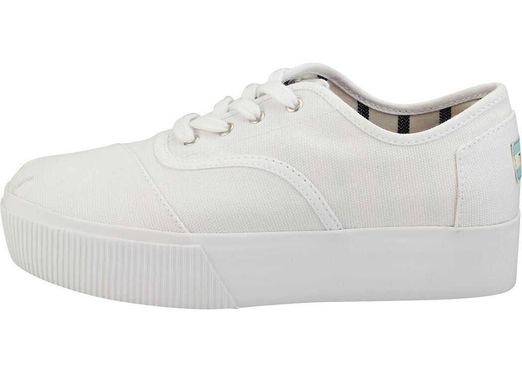 TOMS Cordones Boardwalk Platform Trainers In White White
