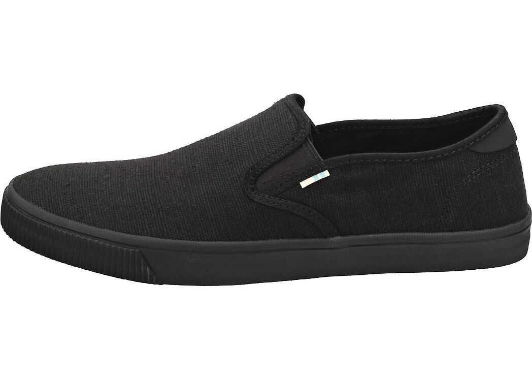 TOMS Baja Heritage Slip On Shoes In Black Black