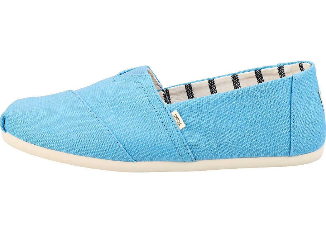 TOMS Classic Bliss Heritage Slip On Shoes In Blue Blue