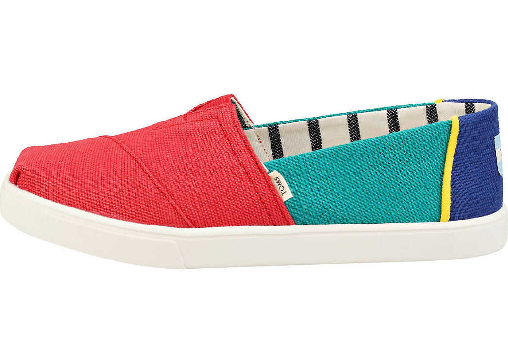 TOMS Classic Heritage Cupsole Slip On Shoes In Multicolour Multi-Colour