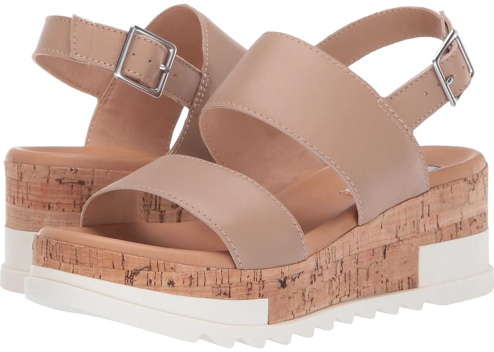 Steve Madden Brenda Wedge Sandal Natural Leather