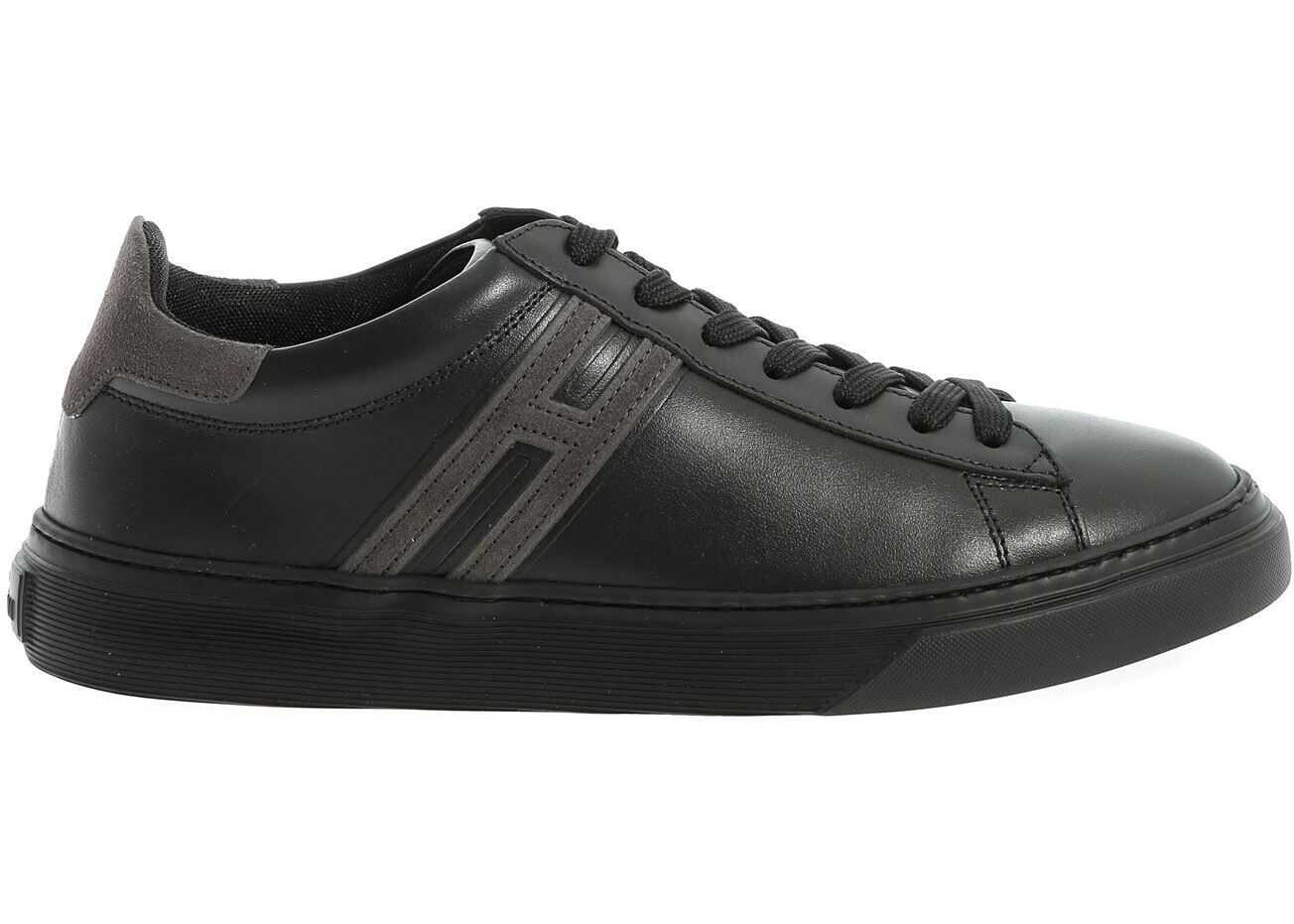 Hogan H365 Sneakers In Black And Gray Black
