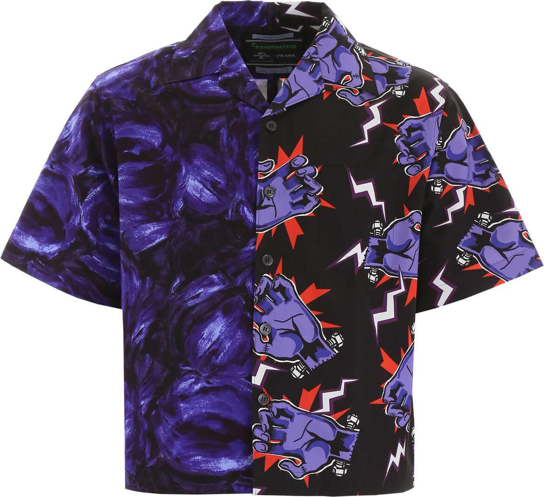 Prada Half Print Shirt VIOLA VIOLA
