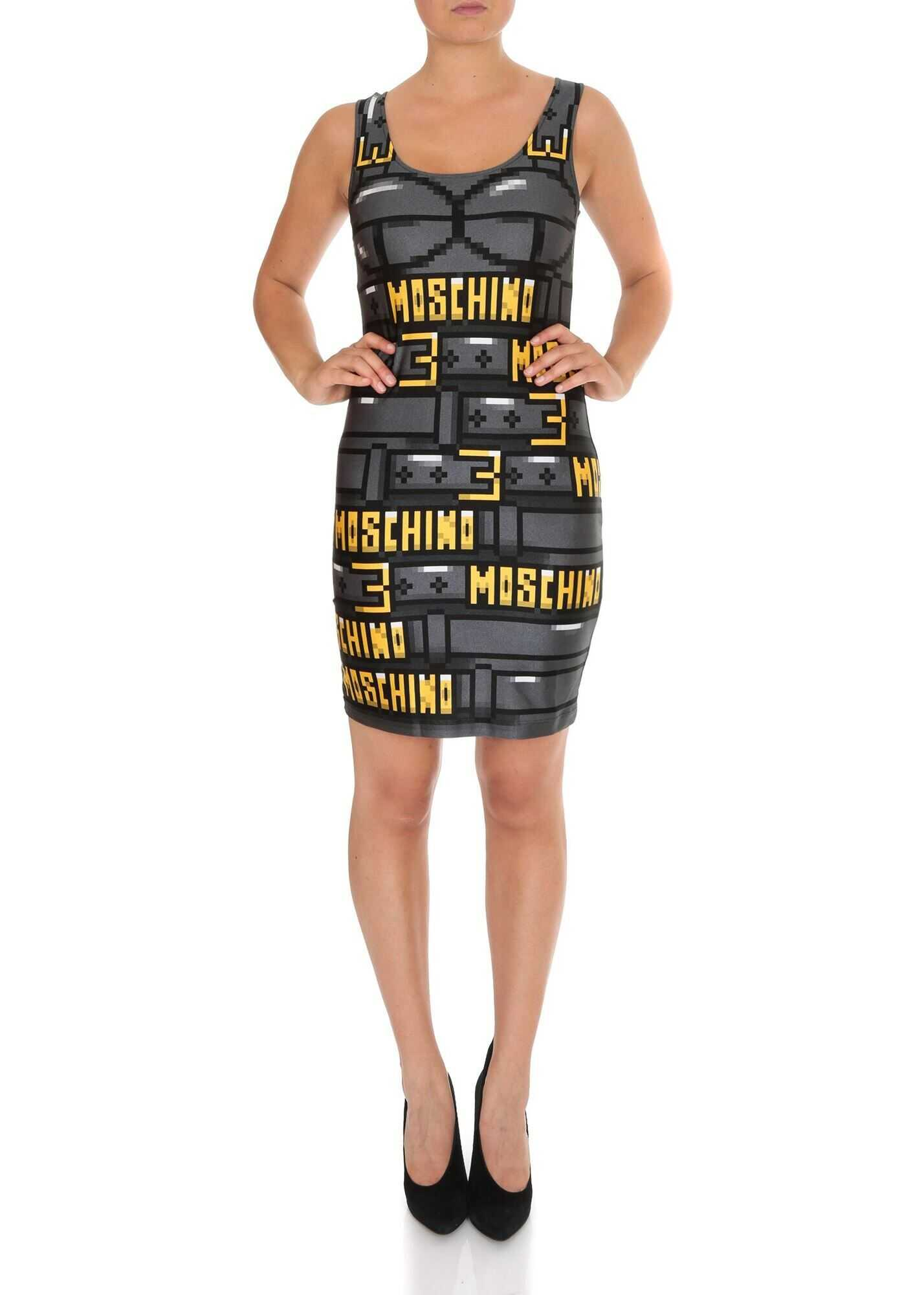 Moschino Moschino Capsule Collection Pixel Dress Black