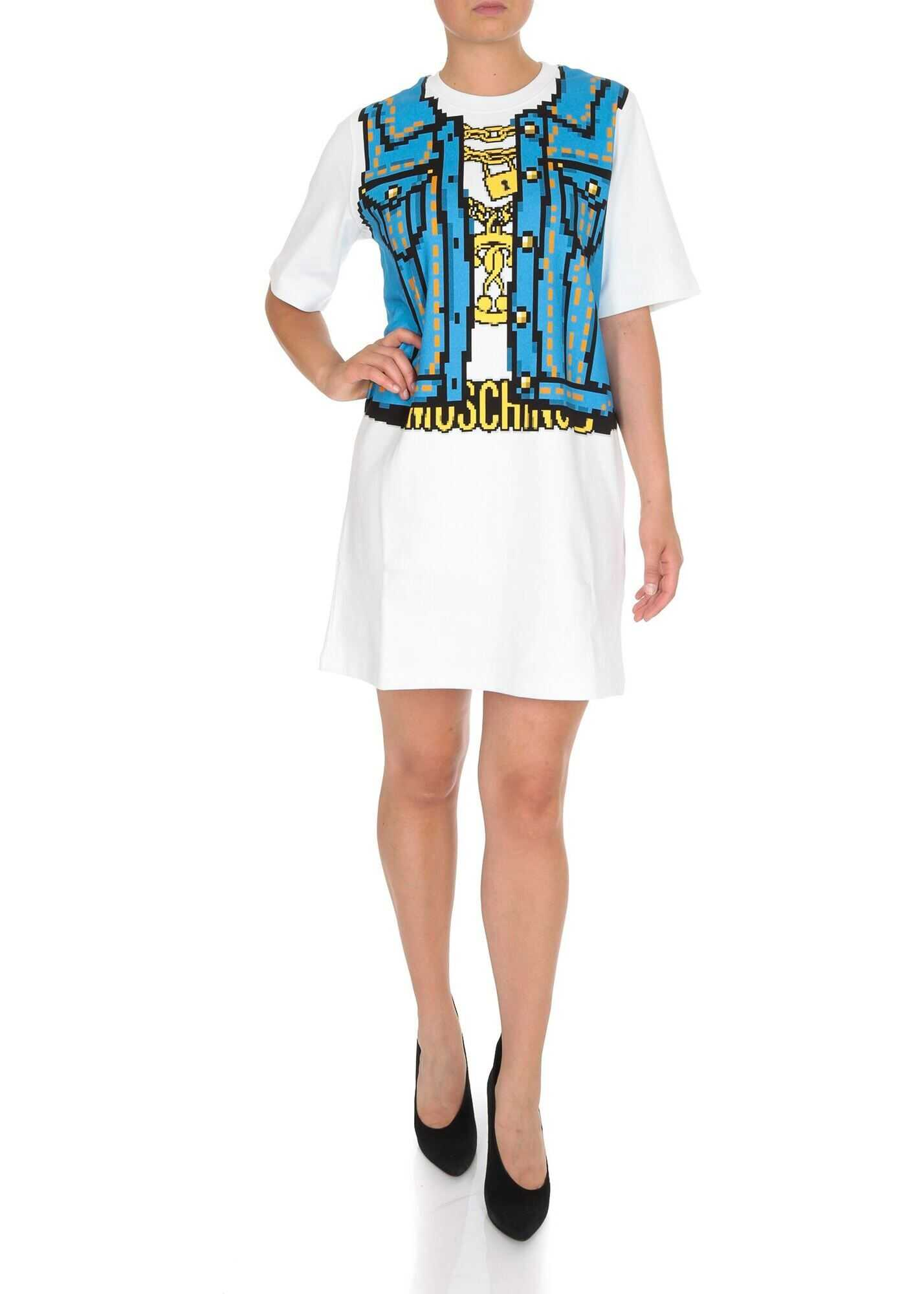Moschino Moschino Capsule Collection Pixel Dress In White White