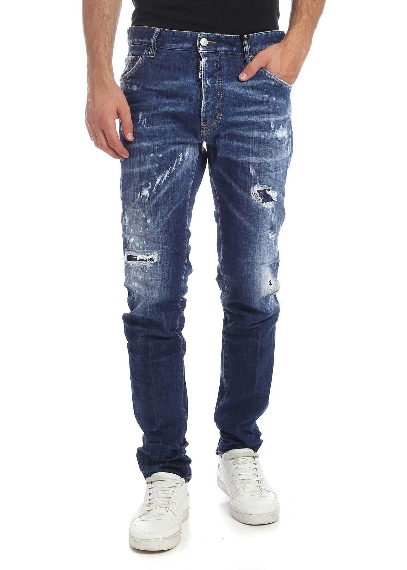 DSQUARED2 Destroyed-Effect Cool Guy Blue Jeans Blue