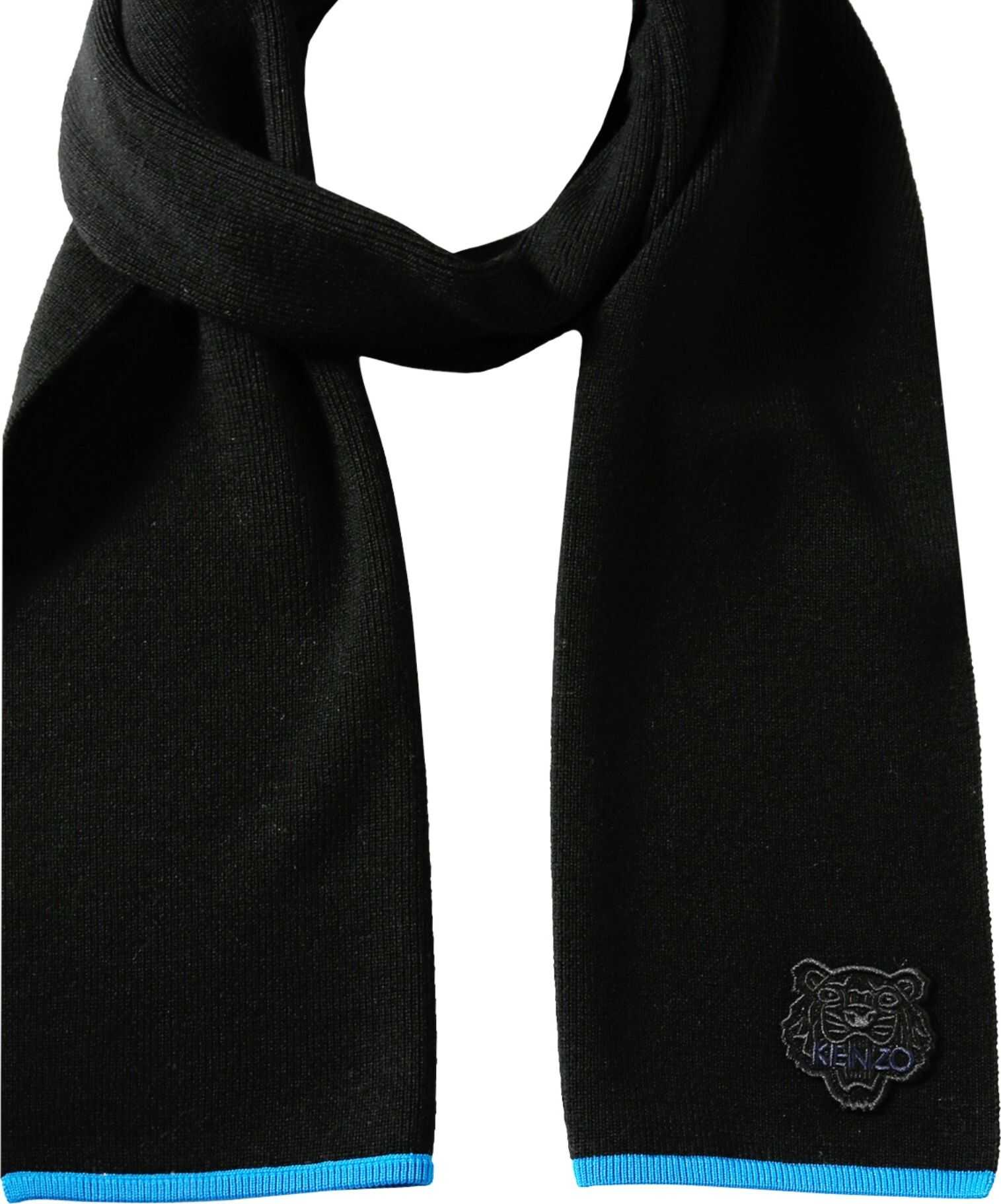 Kenzo Scarf With Tiger Patch BLACK