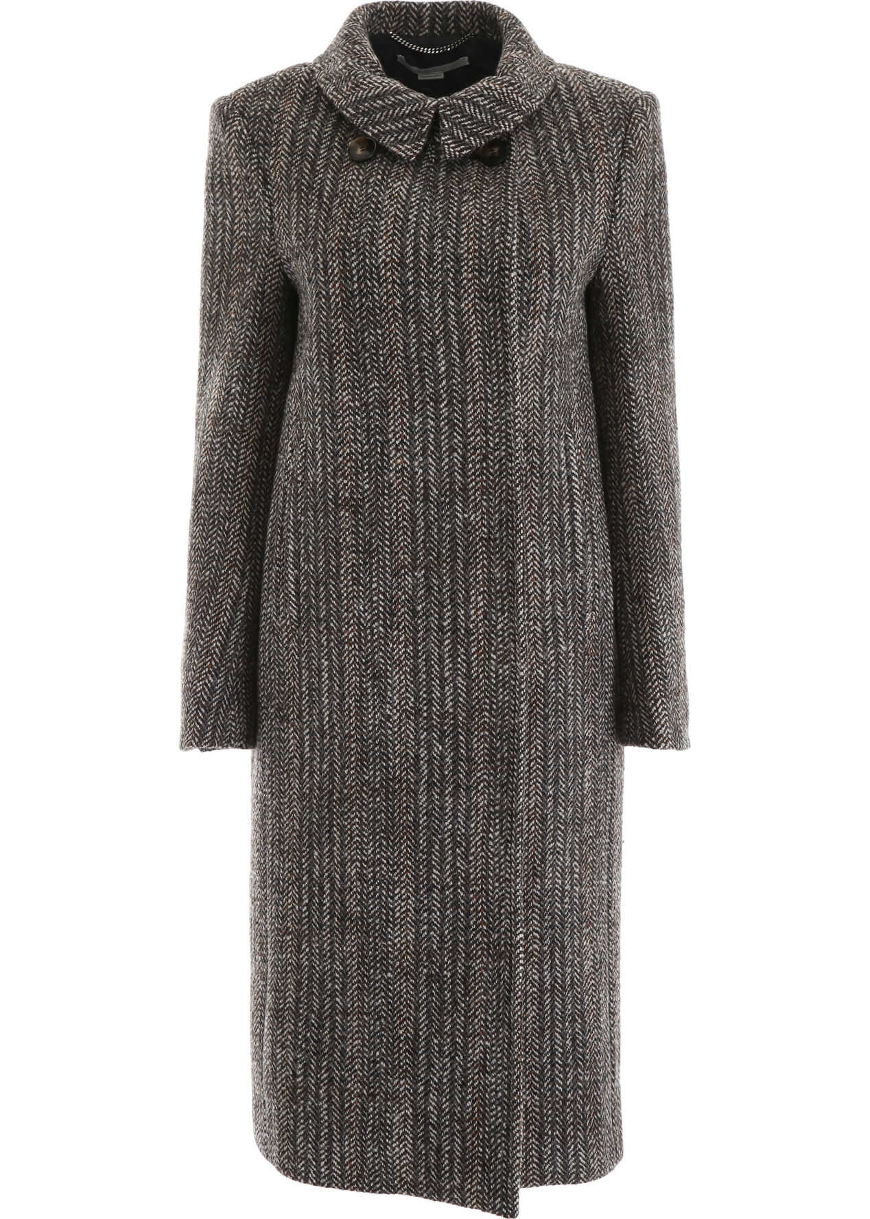 adidas by Stella McCartney Chevron Coat BLACK