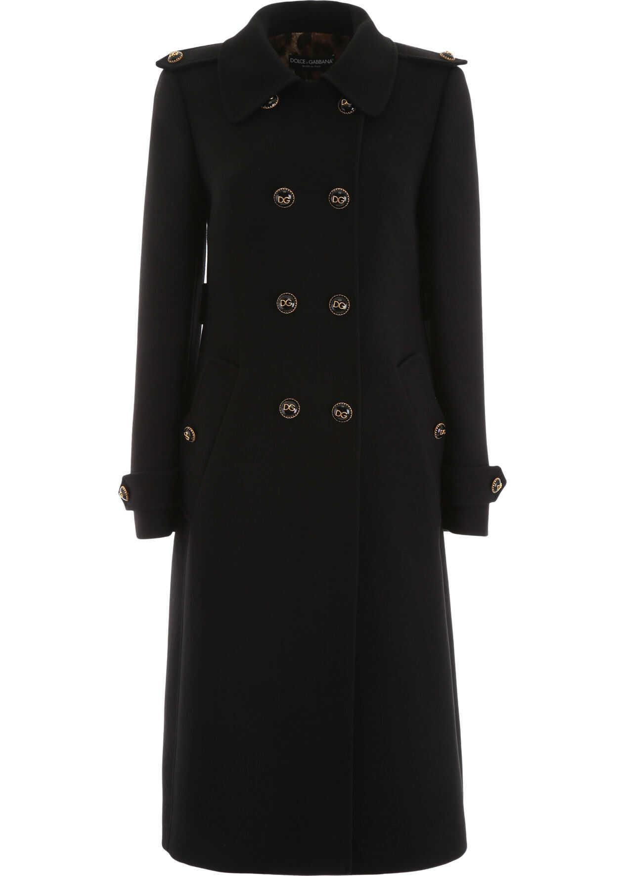 Dolce & Gabbana Double-Breasted Coat NERO