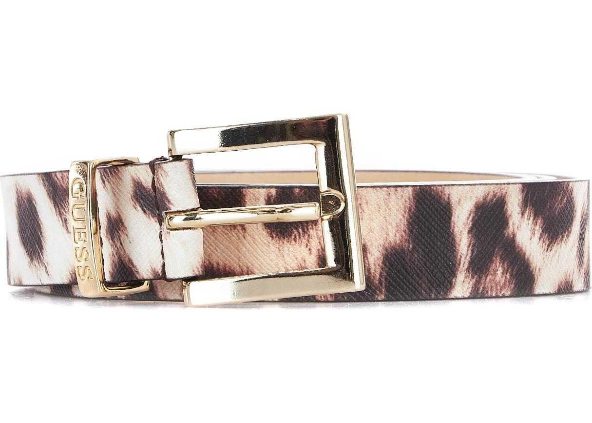 GUESS Faux leather belt Beige